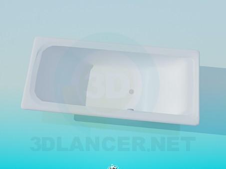 3d modeling Rectangular tub model free download