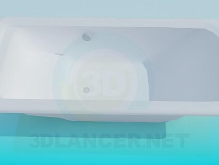 3d модель Прямокутна ванна – превью