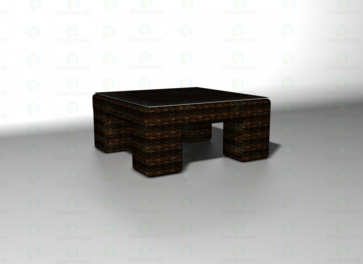 3d model Mazara table - preview