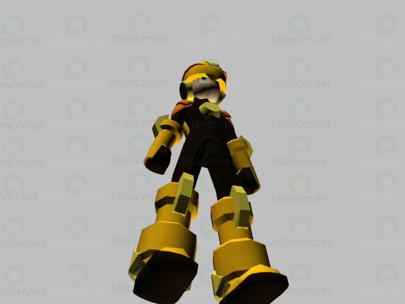 3d model Character Rockman - preview