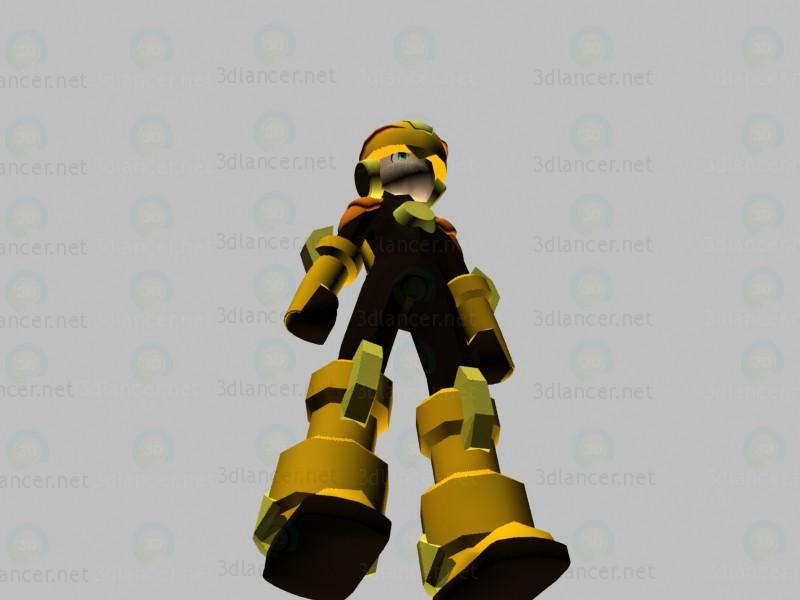 3d modeling Character Rockman model free download