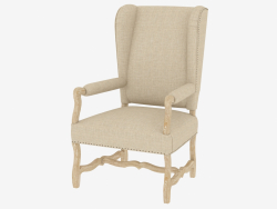 Dining chair with armrests BELGIUM WING ARM CHAIR (8826.1100.1.A015.A)
