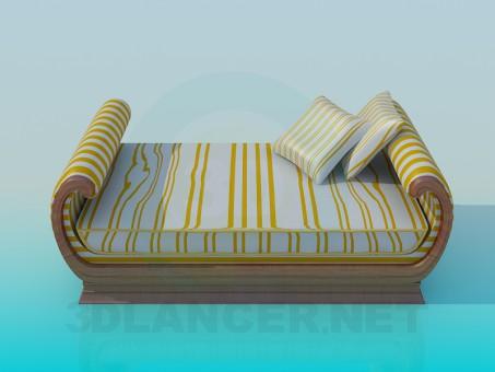 3d modeling Bed model free download
