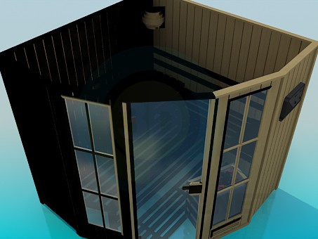 modelo 3D Sauna - escuchar