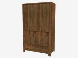 Armoire 2 portes 2D (114 x 190 x 55 cm)