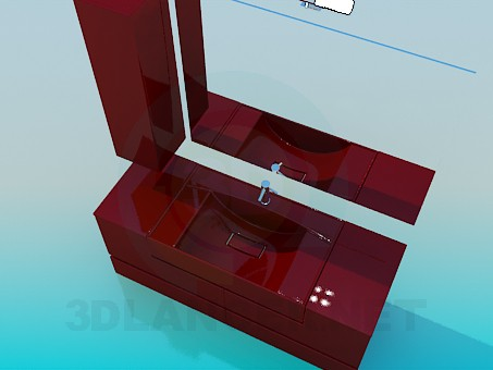 3d model Set of furniture for the sink - preview