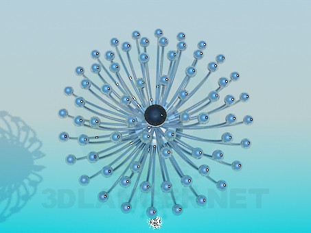 3d model Chandelier with metal balls - preview