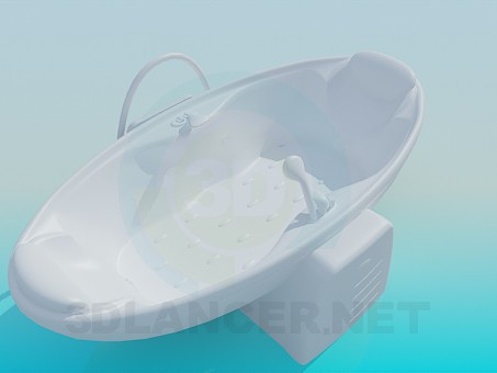3d модель Ванна на опорі – превью
