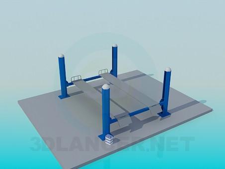 3d модель Підставка для автосервісу – превью