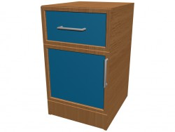 Nightstand 1 door, 1 box K701