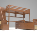 3d bunk bed model buy - render