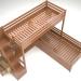 3d bunk bed model buy - render