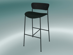 Bar stool Pavilion (AV10, H 95cm, 50x52cm, Black stained oak, Velvet 1 Forest)