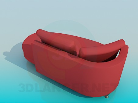 3d model Couch with back - preview