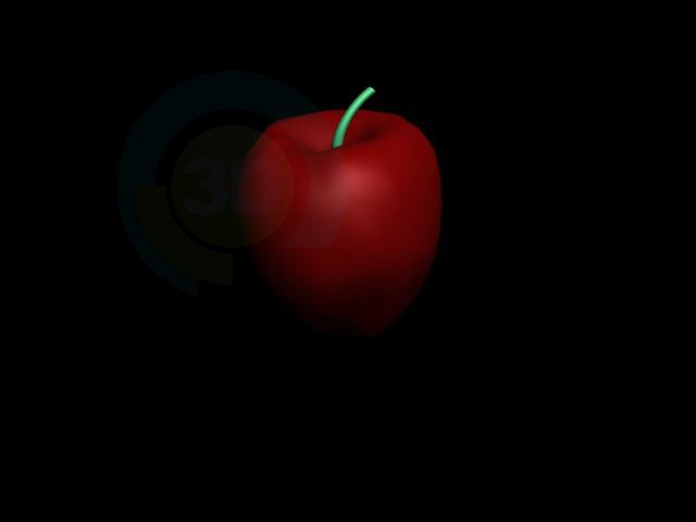 3d model Apple - preview