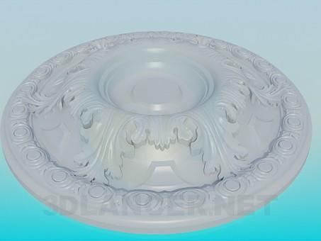 modelo 3D Zócalo bajo la lámpara - escuchar