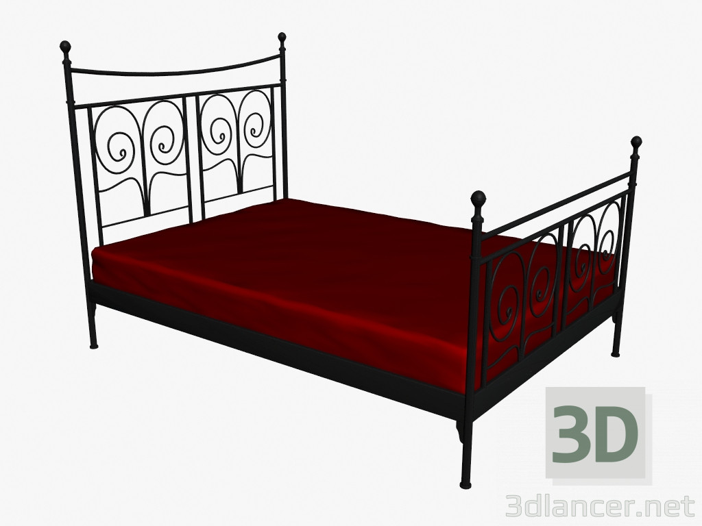 3d model noresund bed manufacturer ikea id 16271 for Ikea 3d