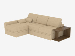 Corner sofa bed with table