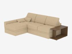 Кутова диван-ліжко з столом
