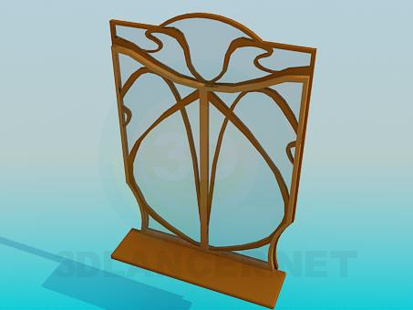 3d model Brown window frame - preview