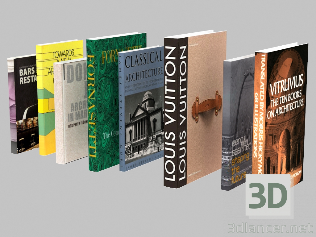 3d model A set of Fornasetti and Vuitton books,Fornasetti max(2013