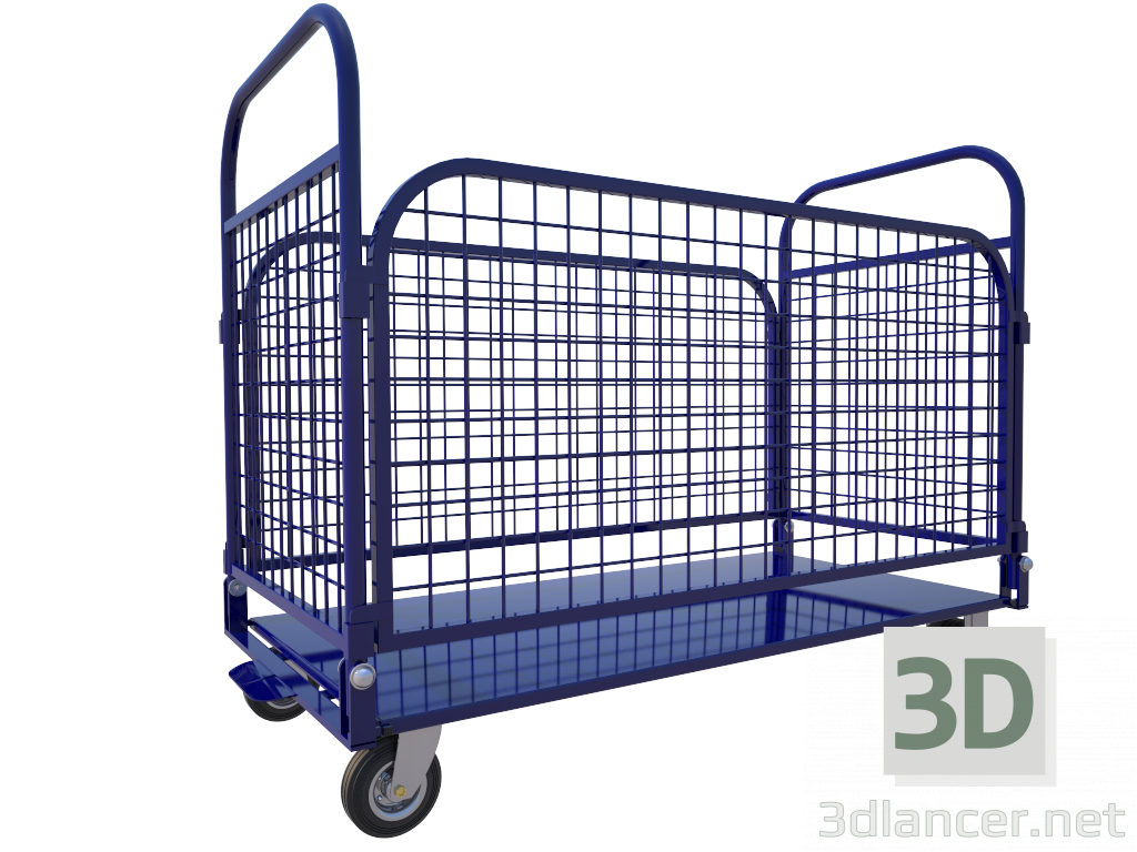 3d model 1200 * 600 * 1000 trolley - preview