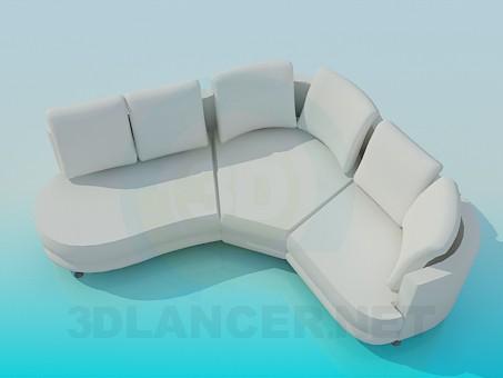 modelo 3D Esquina de suave - escuchar