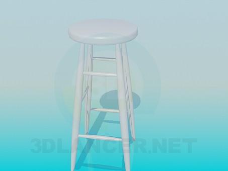 3d модель Высокий табурет – превью