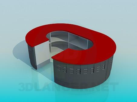 3d модель Овальный ресепшн – превью