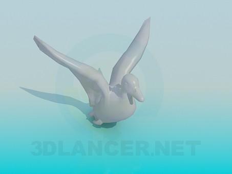 modello 3D Anatra - anteprima