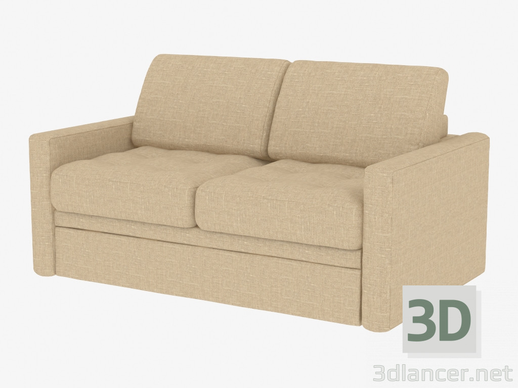 3d model double sofa bed for 2 persons manufacturer pushe for Sofa bed 3d model