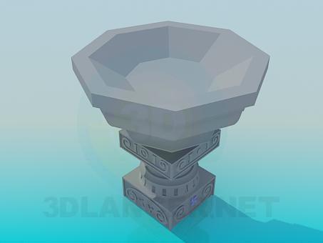 modelo 3D Soporte para las flores - escuchar