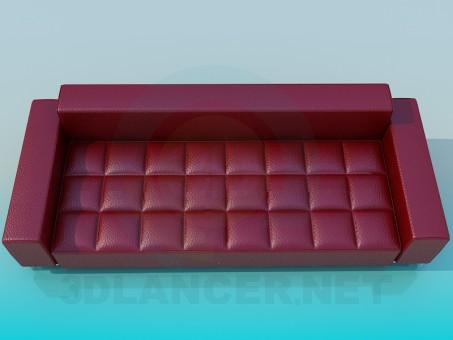 modelo 3D Un sofá en una jaula - escuchar
