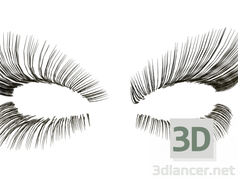 3d Eyelashes model buy - render