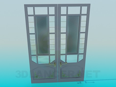 descarga gratuita de 3D modelado modelo Puerta doble