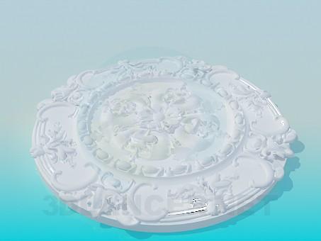 modelo 3D Techo alto poli - escuchar