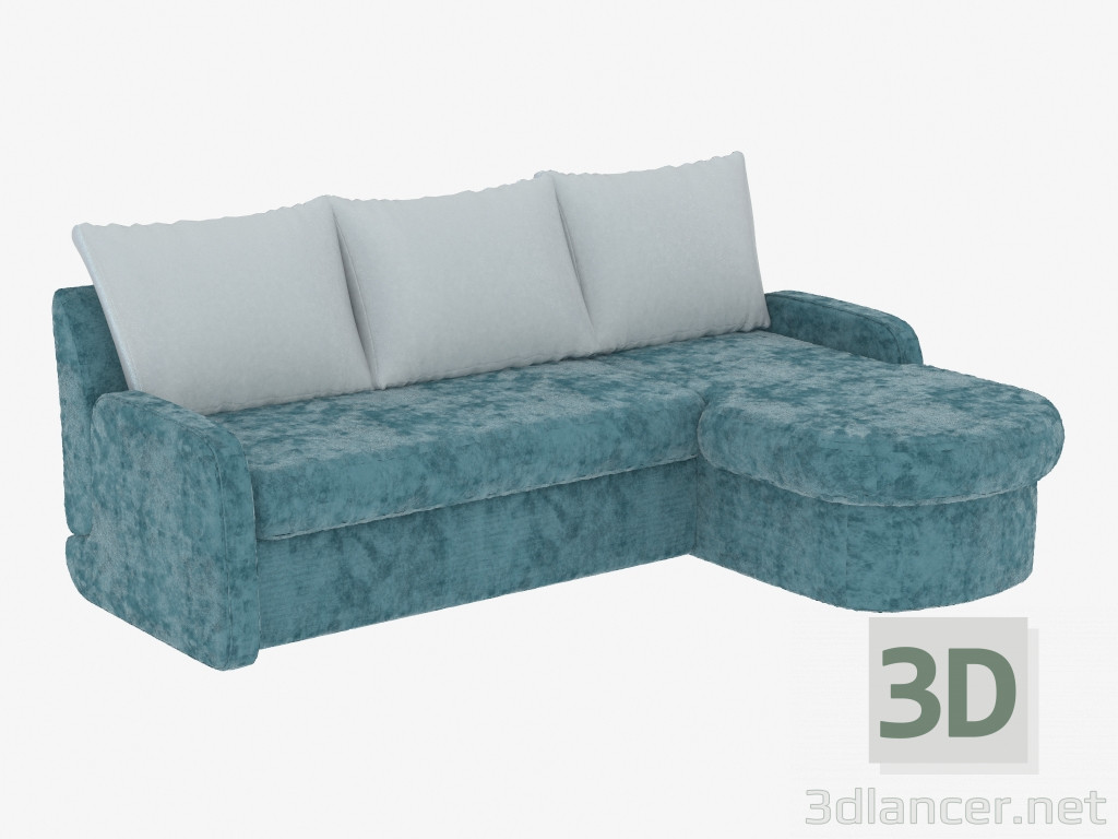Modelo 3d sof cama de esquina para tres personas del fabricante pushe id 19273 - Sofa cama esquina ...