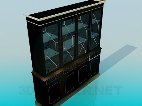 3d модель Сервант 4-х дверный – превью