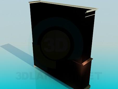 3d model Sideboard 4 doors - preview