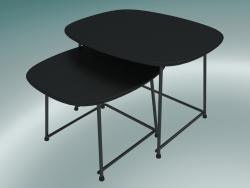 Tavoli da salotto CUP (9100-51, HPL nero, nero verniciato a polvere)