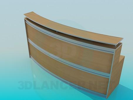 descarga gratuita de 3D modelado modelo Escritorio de recepción