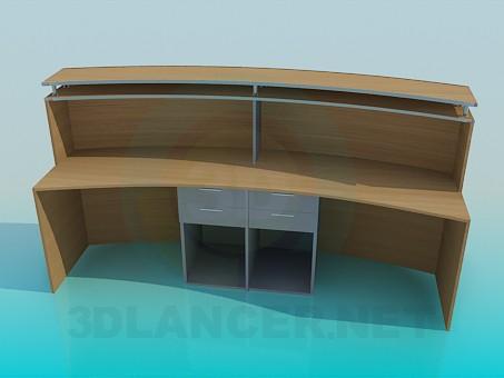 modelo 3D Escritorio de recepción - escuchar