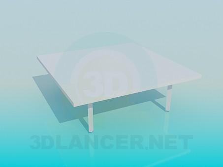 3d модель Очень низкий стол – превью