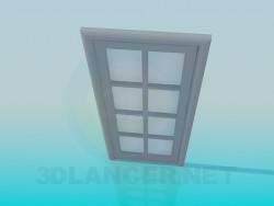 Дверь с матовыми стеклами