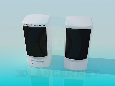 modelo 3D Altavoces de audio - escuchar