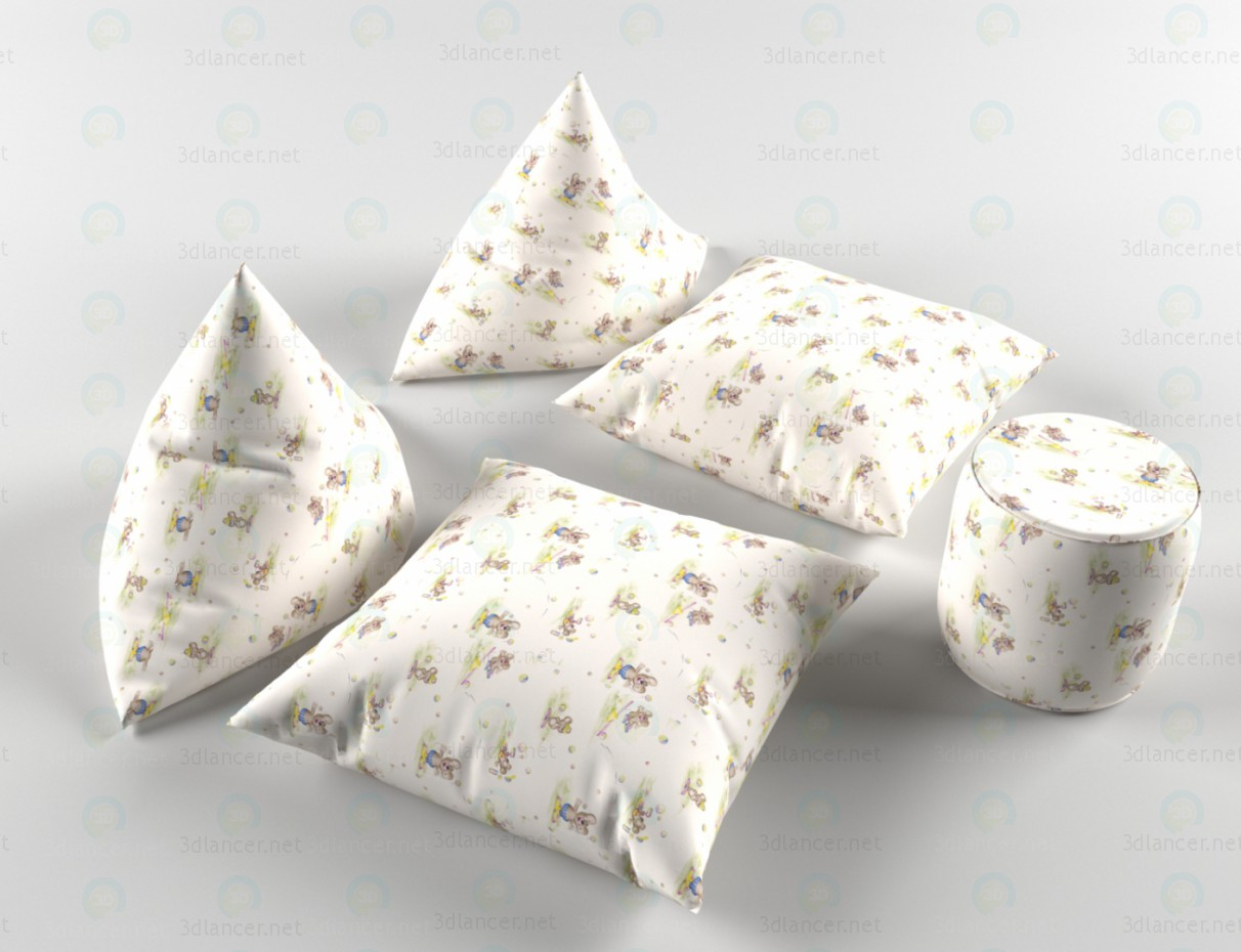 3d modeling Pillows model free download