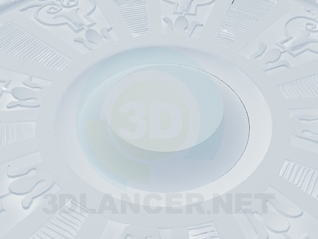 modelo 3D Salida de techo alto poli - escuchar