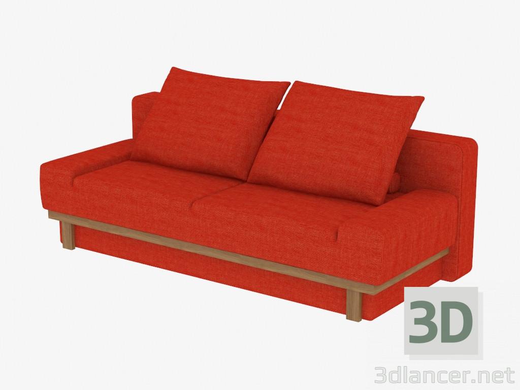 modelo 3d sof cama doble para 2 personas del fabricante