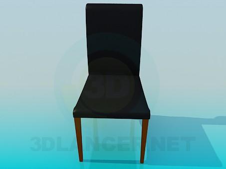 3d модель Кожанный стул – превью