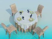 Mesa en el restaurante